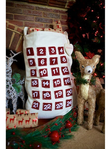 Personalised Two in One Pocket Advent Calendar Sack