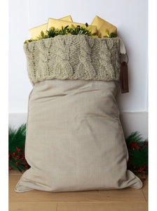 Winter Grey Cable Knit Luxury Sack