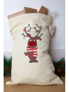 Personalised Rudolph Character Sack