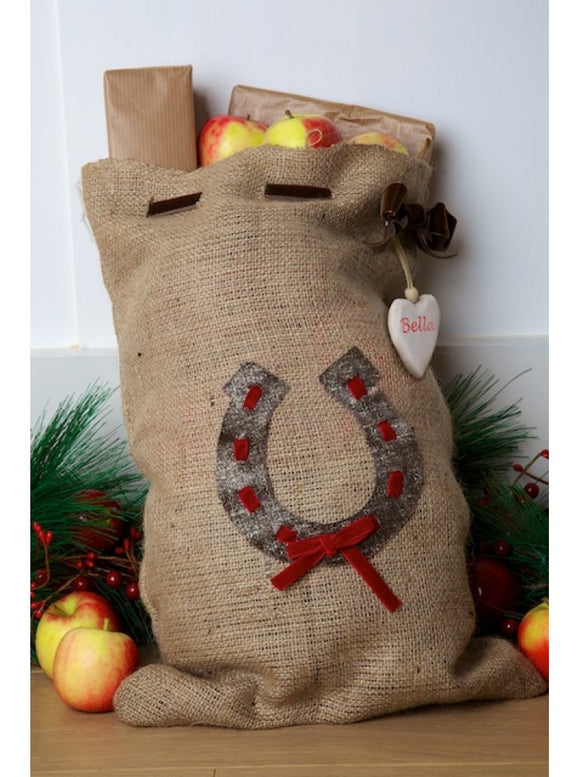 Mini Personalised Stocking Sack with Horseshoe