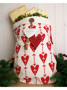 Personalised Love Christmas Luxury Santa Sack