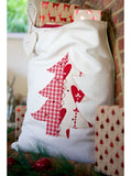 Christmas Tree on Winter White Santa Sack