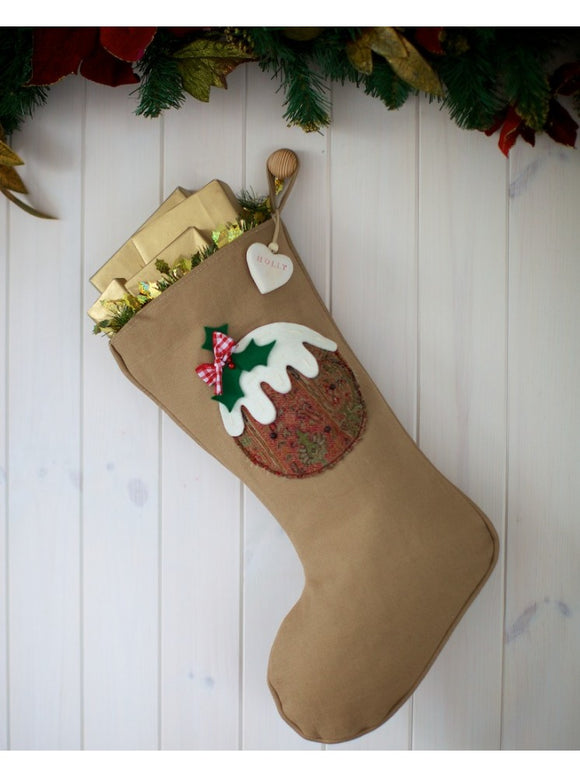 Personalised Vintage Style Pudding Stocking
