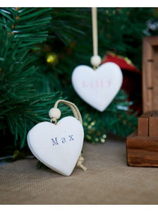 Personalised Mini Wooden Heart