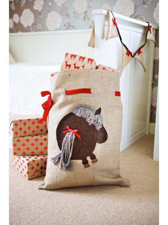 Pony Hessian Santa Sack
