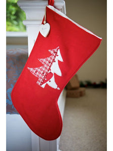 Luxury Red Christmas Tree Stocking