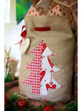 Rustic Hessian Christmas Tree Santa Sack