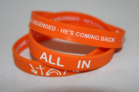 Kings Witness Bracelet Orange/ALL IN (2 sizes) FREE SHIPPING