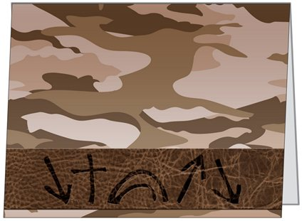 Witness Note Cards - Camo