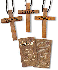 Witness Cross Pendant 24 pack