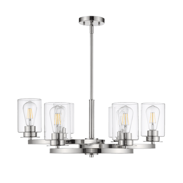 JONNA 6-Light Polished Nickel Chandelier