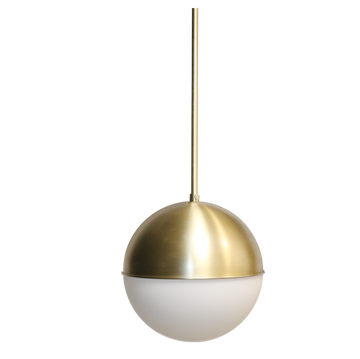 Oro 1-Light Gold Globe Light Pendant Lighting with Frosted Glass