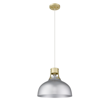 Octavia 1-Light  Modern Silver and Gold Kitchen Island Pendant Lighting