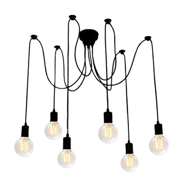 Vivio Charlotte 6-Light Spider Adjustable  - Matte Black