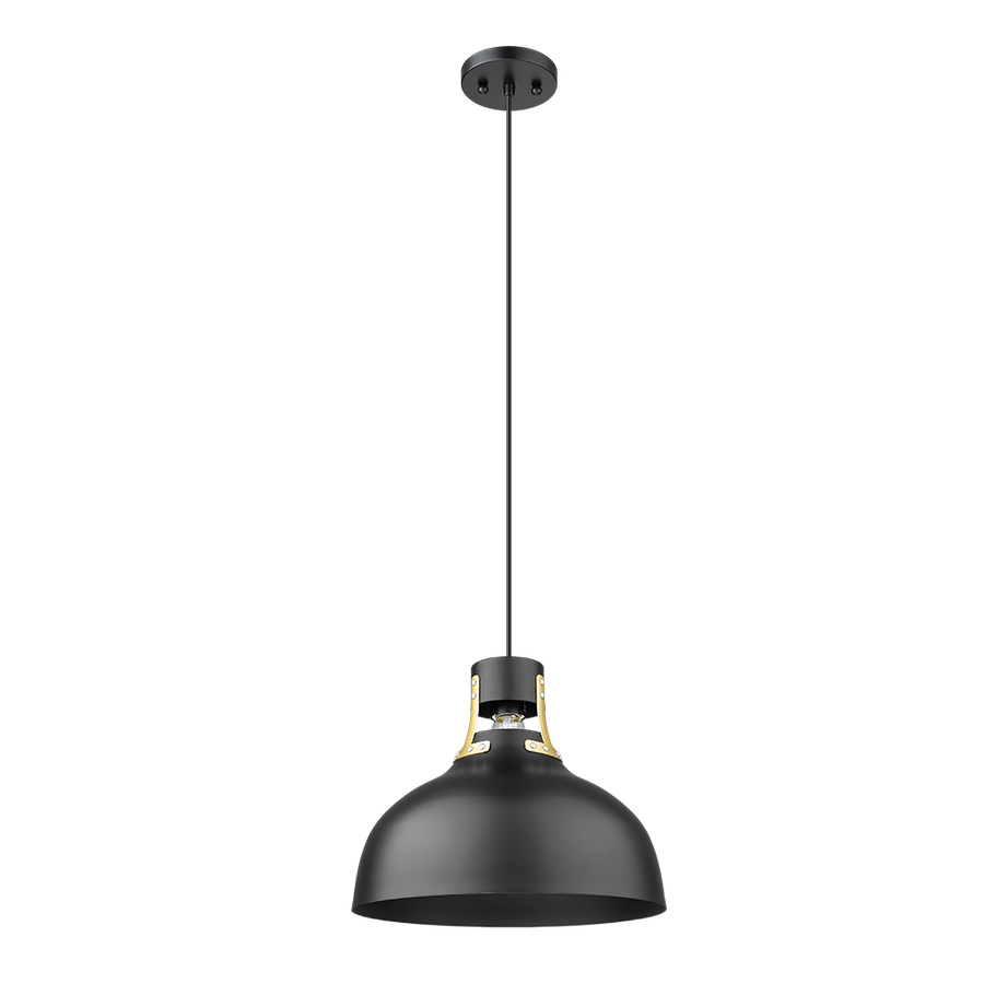 Octavia Modern Single Light in Gold & Black Finish Kitchen Island Pendant Lighting