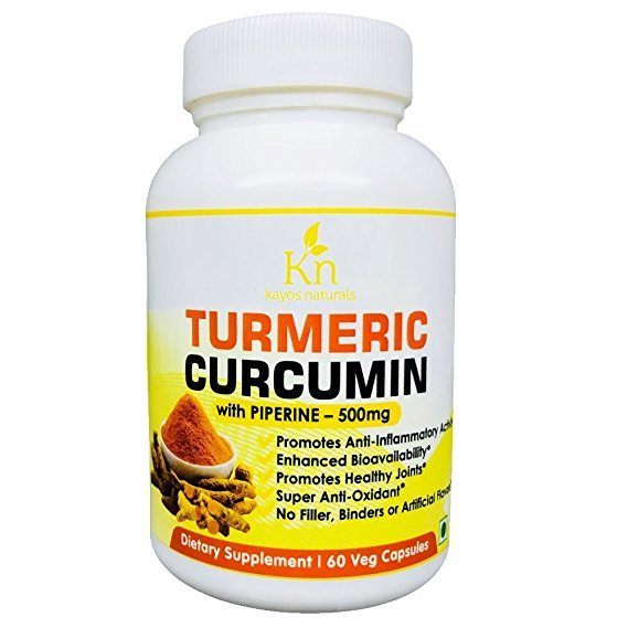 Kayos Naturals Turmeric Curcumin With Piperine For Enhanced Bioavailability For Healthy Joints - 500Mg (60Capsules)