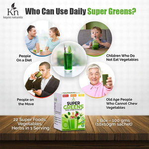 Load image into Gallery viewer, Kayos Naturals Supergreens Plant Based Nutrition Green Veg Juice Powder - 100gm