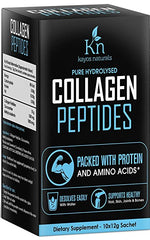 Kayos Naturals Pure Collagen Peptides Hydrolyzed Protein Supplement Powder - 12 g (Pack of 10 Sachet)