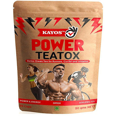 Kayos Power Teatox - Detox Green Tea for Energetic Workout for Fitness Athletes - 50g