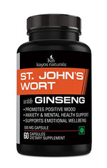 Kayos Naturals St. John's Wort with Ginseng Hypericin Extract 500mg - 60 Capsules