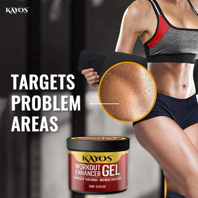 Kayos Sweat Slim Belt with Workout Enhancer Gel Combo - Fat Loss Tummy Trimmer Exerciser for Men & Women