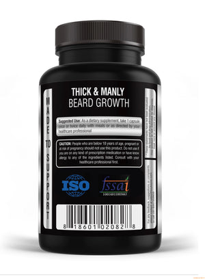 Kayos Naturals Macho Beard XL - Premium Beard and Hair Growth Supplement with Biotin and Collagen - 60 caps …