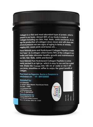 Kayos Naturals Collagen Peptides (Hydrolyzed) Powder Protein Supplement Type 1 and 3 with Glucosamine and Methylcobalamin - 250g