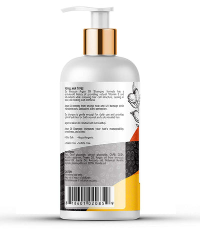 Kayos Botanicals Argan Oil Shampoo for Hair - No Sulfates No Parabens with Keratin for All Hair Types - 300mL