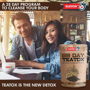 Kayos 28 Day Teatox with Garcinia Cambogia and Oolong Tea for Weight Loss - 28 Tea Bags
