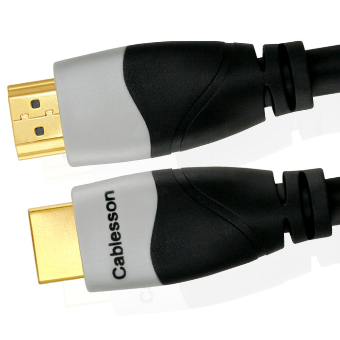 Cablesson Ivuna 16m High Speed HDMI Cable (HDMI Type A, HDMI 2.1/2.0b/2.0a/2.0/1.4) - 4K, 3D, UHD, ARC, Full HD, Ultra HD, 2160p, HDR - for PS4, Xbox One, Wii, Sky Q. For LCD, LED, UHD, 4k TVs - Black