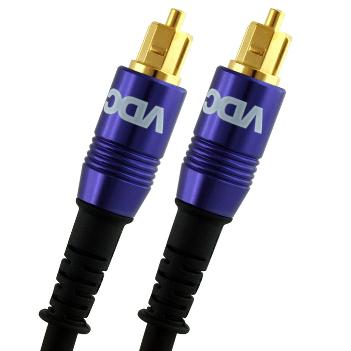 VDC 3m Optical TOSLINK Digital Audio SPDIF Cable - Purple - hdmicouk