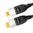 Cablesson Ivuna Flex Plus 1m High Speed HDMI Cable (HDMI Type A, HDMI 2.1/2.0b/2.0a/2.0/1.4) - 4K, 3D, UHD, ARC, Full HD, Ultra HD, 2160p, HDR - **rotating and swiveling connectors** - Black