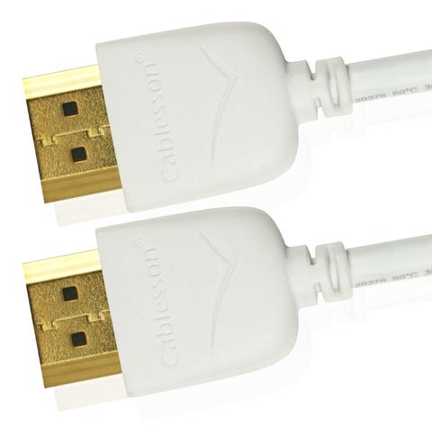 Cablesson Mackuna Slim Flex High Speed HDMI Cable 0.5m - 3m - hdmicouk