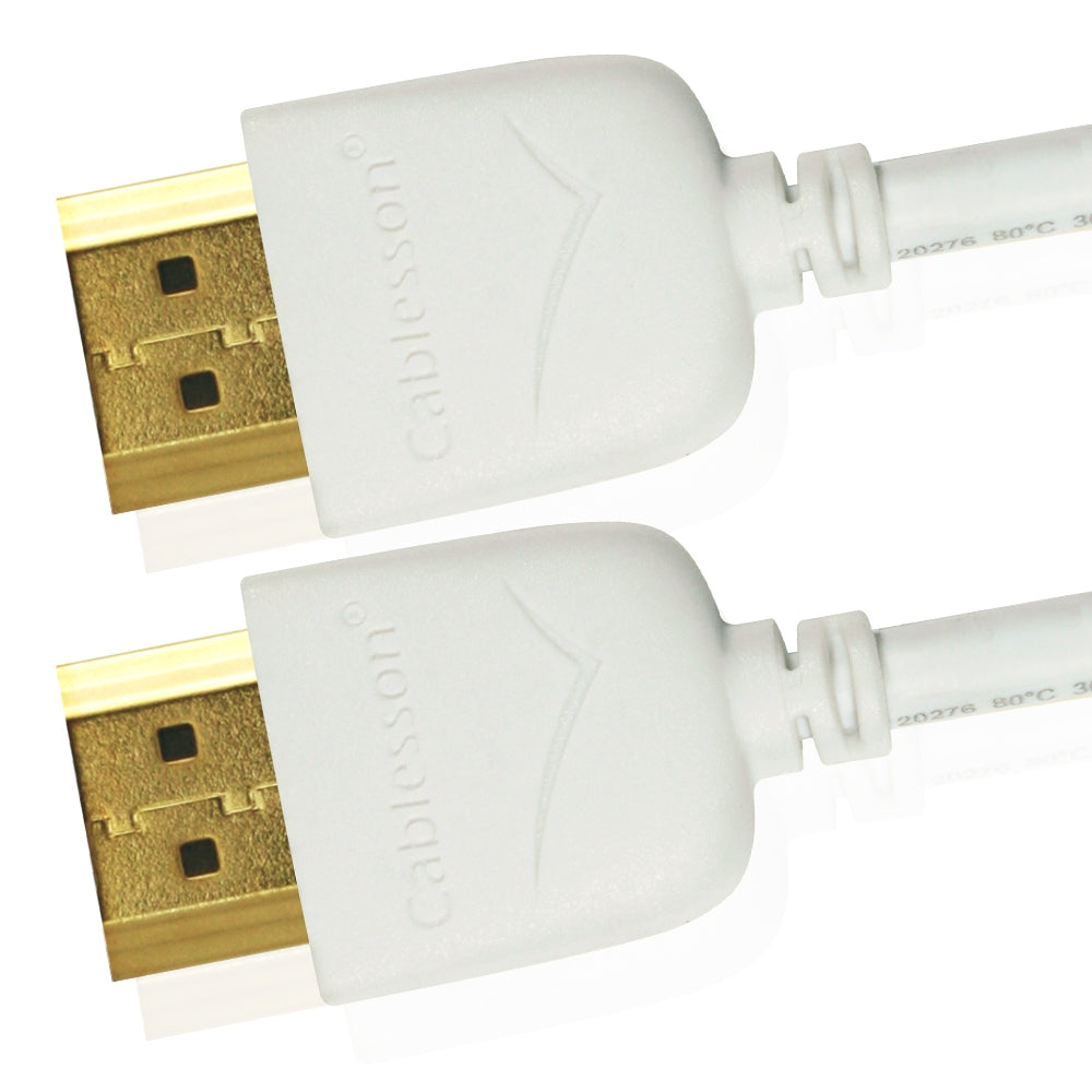 Cablesson Mackuna Slim Flex 2m High Speed HDMI Cable - white - hdmicouk