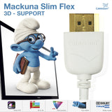 Cablesson Mackuna Slim Flex 3m High Speed HDMI Cable (HDMI Type A, HDMI 2.1/2.0b/2.0a/2.0/1.4) - 4K, 3D, UHD, ARC, Full HD, Ultra HD, 2160p, HDR - **Ultra Slim Design** -white