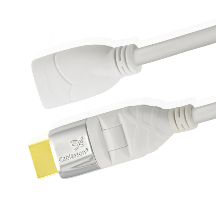 Cablesson Mackuna Flex Plus 1m Extension HDMI Cable with Adjustable Plug - hdmicouk