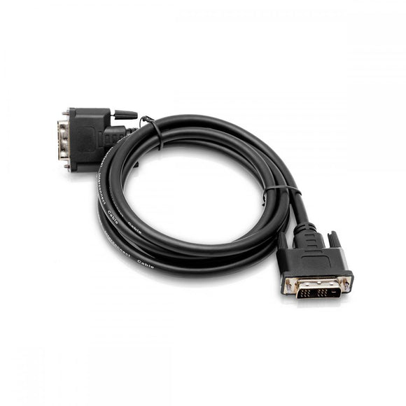 Cablesson DVI to DVI cable - Broadband, DVI-D male to DVI-D male with gold-plated connectors. Single link 19 pin, for TV, monitor and projector, HDTV resolutions up to 1920x1080 - Black, 1.5m.