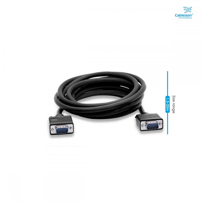Cablesson 7m VGA to VGA cable Black - hdmicouk