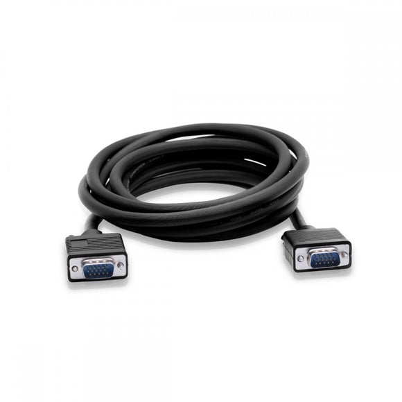 Cablesson VGA to VGA cable - High-speed, VGA male to VGA male with silver-plated connectors. 15-pin, for monitor, PC, TVs and Projectors - Black, 20m
