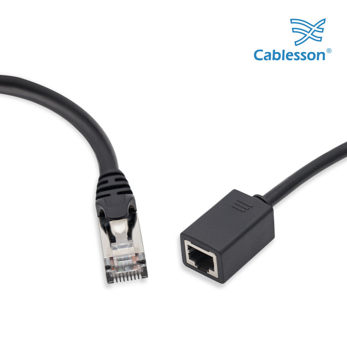 Cablesson 10m Cat6 Ethernet LAN cable RJ45 Connector 2 Pack Black - hdmicouk