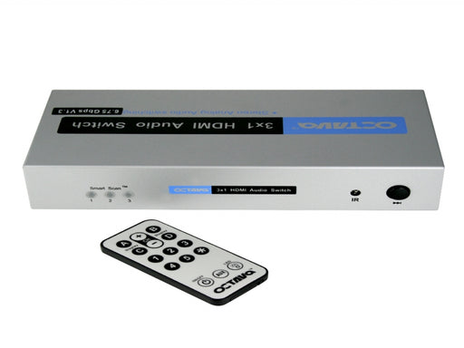 Octava HDA31-UK 3x1 HDMI + Audio Switch - hdmicouk