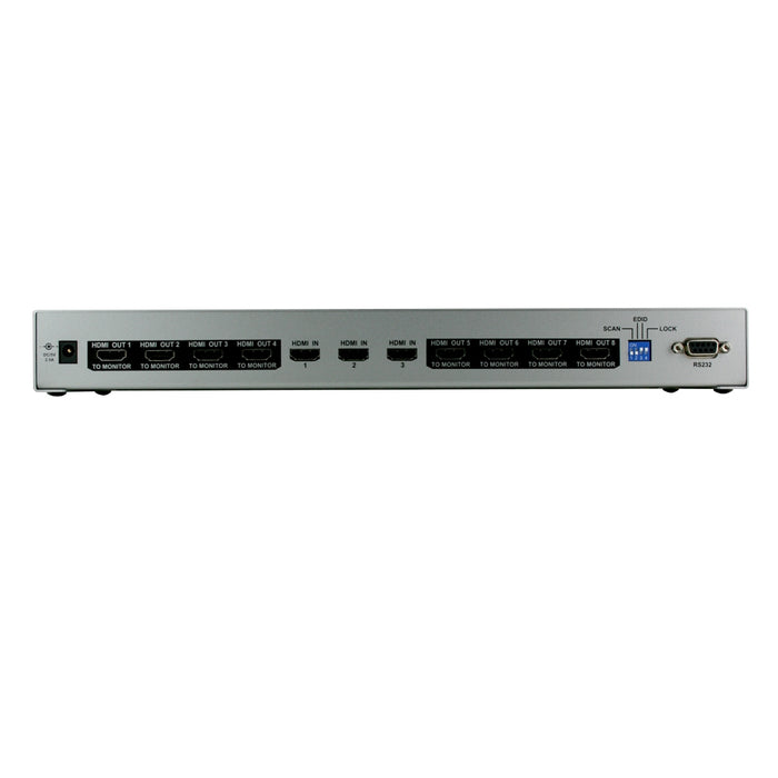 Octava HDDA38-UK 3x8 HDMI Splitter / Distribution Amp - hdmicouk