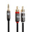 XO 2m 3.5mm Male to 2 x RCA male Stereo Audio Cable Black - hdmicouk
