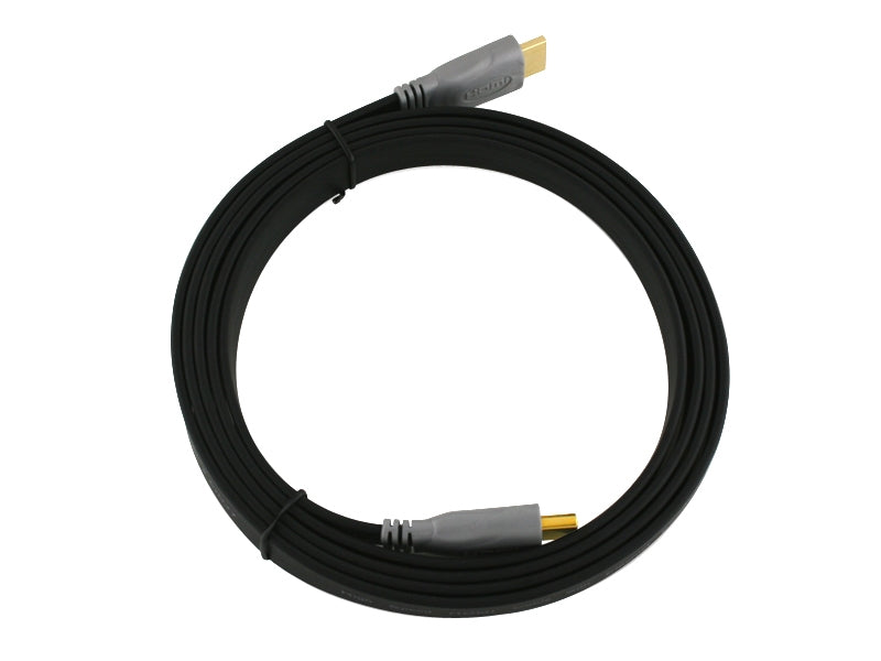 Cablesson Flat High Speed HDMI Cable - 1.5m - Black - hdmicouk
