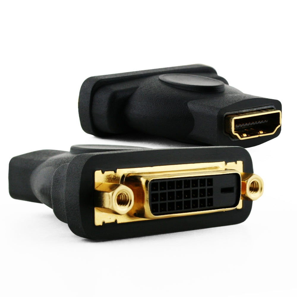 Cablesson HDMI Female to DVI / DVI-D Female Adapter / Converter - Black - Gold Plated - hdmicouk