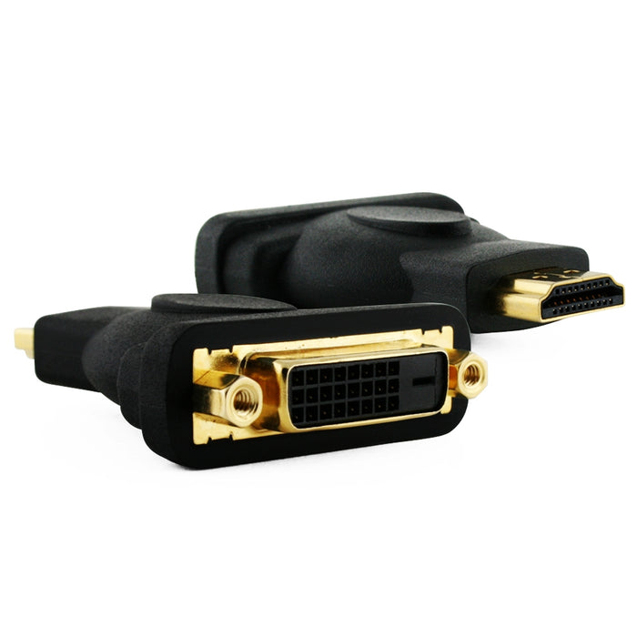 Cablesson HDMI Male to DVI Female Adapter Monitor Display Cable - HDMI to DVI-D Video Adaptor/Converter - for HDTV, LCD, Plasma, DVD, Projector and DVI Monitor 1080p - Gold Plated connectors
