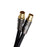 XO - 8m Male to Male Shielded TV/AV Aerial Coaxial Cable with Gold Plated Connector - Black - hdmicouk