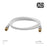 XO Male to Male Shielded TV/AV Aerial Coaxial Cable with Gold Plated Connector- White - hdmicouk