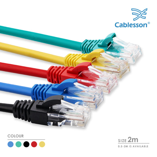 Cablesson 2m Cat5e Ethernet Cable 5 Pack With Cable Ties - hdmicouk