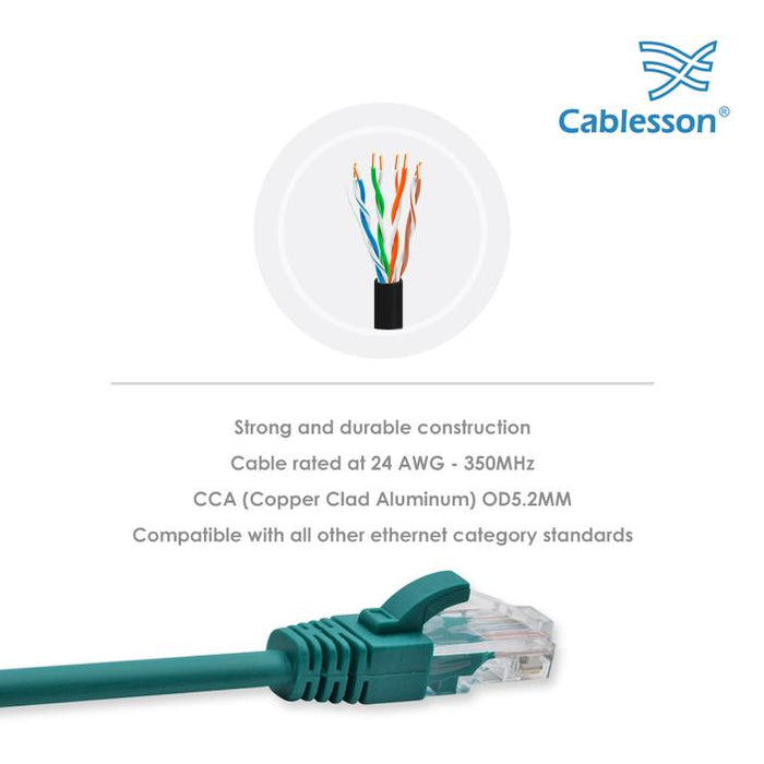 Cablesson Ethernet Cable  Cat5e (Cable Pack + Cable Ties)